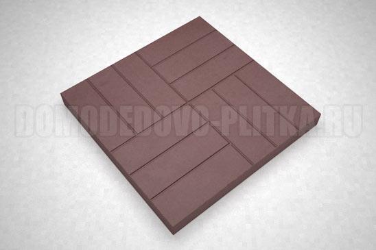 плитка 12-кирпичей цвет коричневый