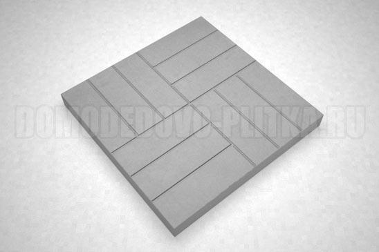 плитка 12-кирпичей цвет серый