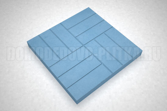 плитка 12-кирпичей цвет синий