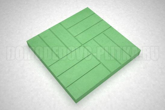 плитка 12-кирпичей цвет зеленый