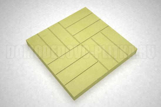 плитка 12-кирпичей цвет желтый