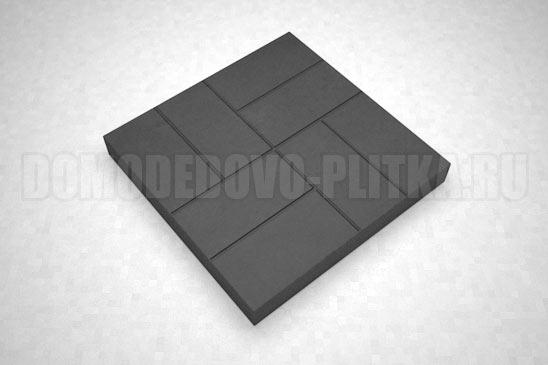 плитка 8-кирпичей цвет черный