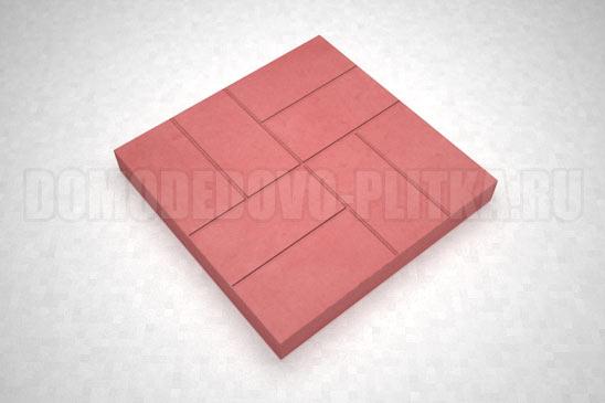плитка 8-кирпичей цвет красный