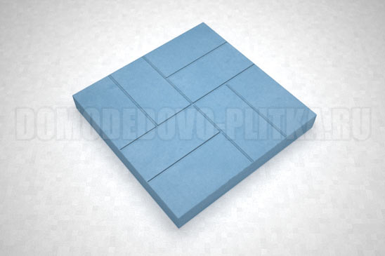 плитка 8-кирпичей цвет синий