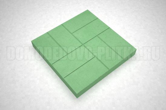 плитка 8-кирпичей цвет зеленый