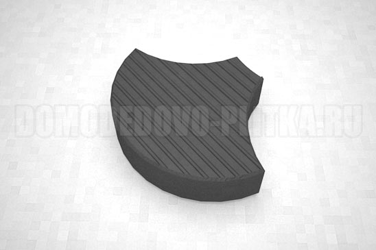 плитка чешуя цвет черный