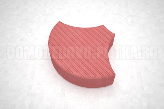 плитка чешуя цвет красный