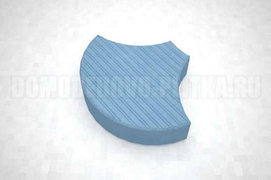 плитка чешуя цвет синий