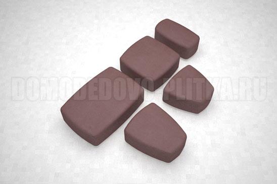 плитка классика цвет коричневый