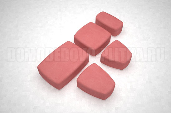 плитка классика цвет красный