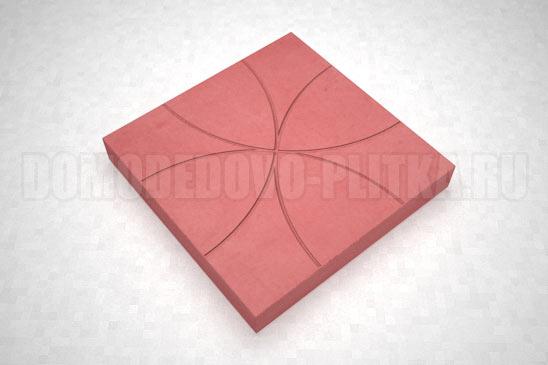 плитка цветок цвет красный