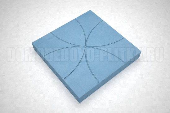 плитка цветок цвет синий