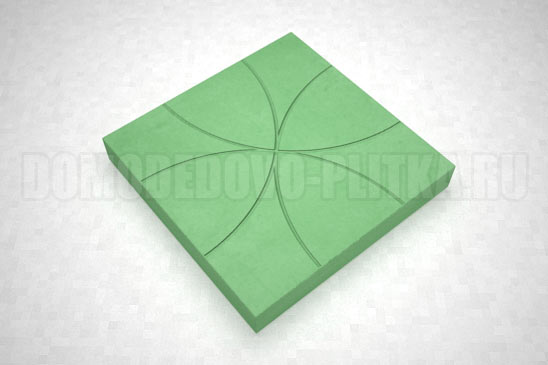 плитка цветок цвет зеленый