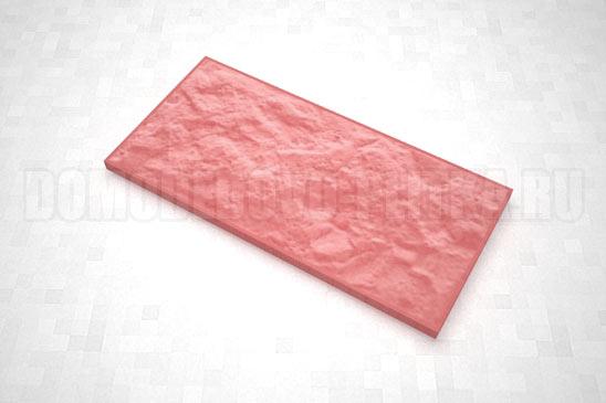 плитка рваный камень 270*127 цвет красный
