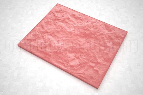 плитка колотый камень 270*330 цвет красный