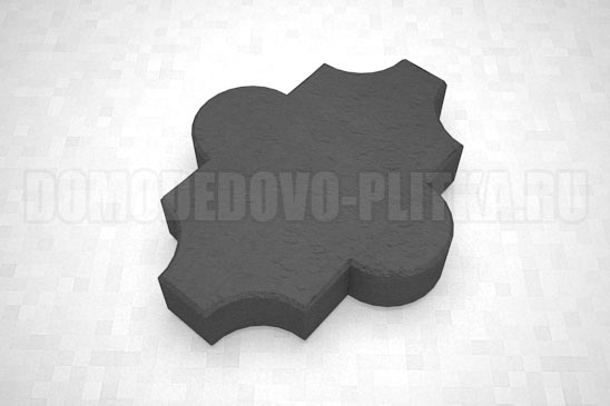 плитка клевер гладкий цвет черный