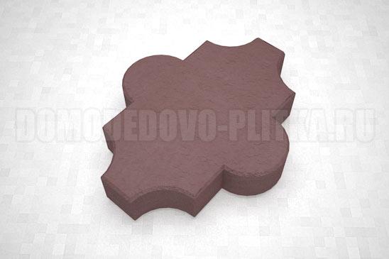 плитка клевер гладкий цвет коричневый