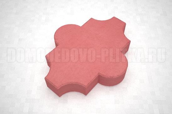 плитка клевер гладкий цвет красный