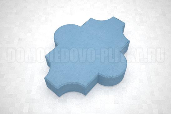 плитка клевер гладкий цвет синий