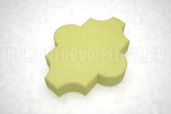 плитка клевер гладкий цвет желтый