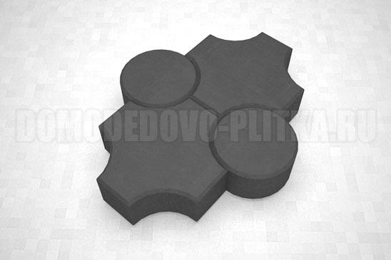 плитка клевер рельефный цвет черный