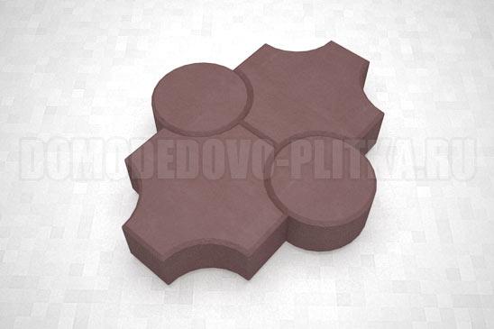 плитка клевер рельефный цвет коричневый