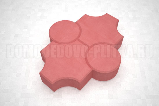 плитка клевер рельефный цвет красный