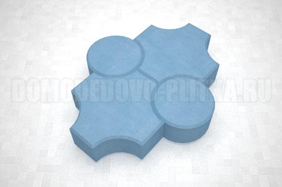 плитка клевер рельефный цвет синий