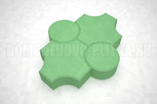 плитка клевер рельефный цвет зеленый