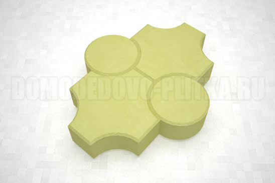 плитка клевер рельефный цвет желтый