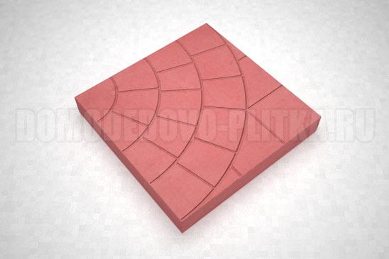 плитка паутина-35 цвет красный
