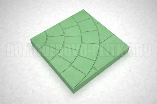плитка паутина-35 цвет зеленый