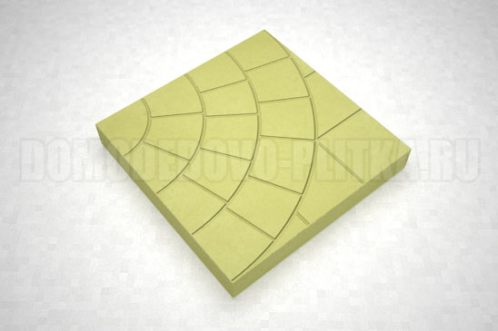 плитка паутина-35 цвет желтый