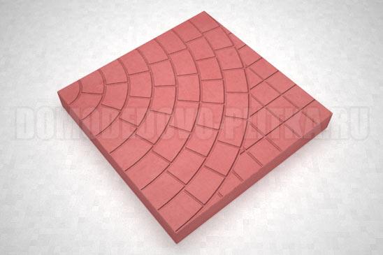 плитка паутина-40 цвет красный