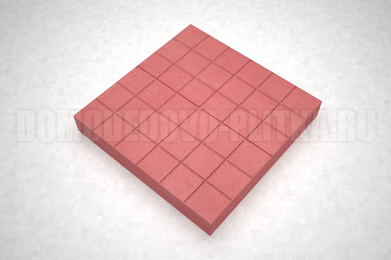 плитка сетка цвет красный