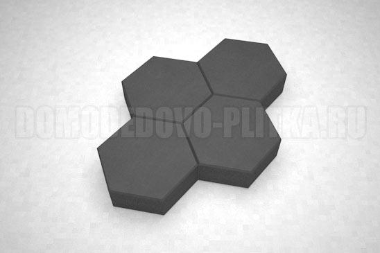 плитка соты цвет черный