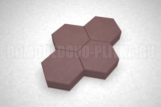 плитка соты цвет коричневый
