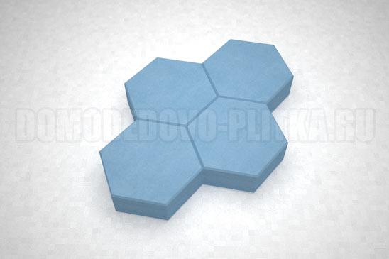 плитка соты цвет синий