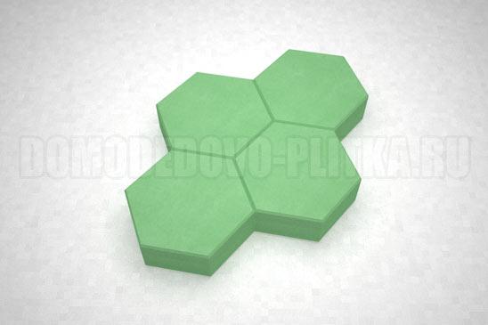 плитка соты цвет зеленый