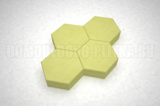 плитка соты цвет желтый