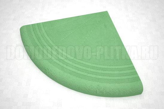 ступень угловая цвет зеленый