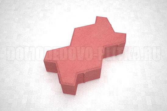 плитка волна цвет красный