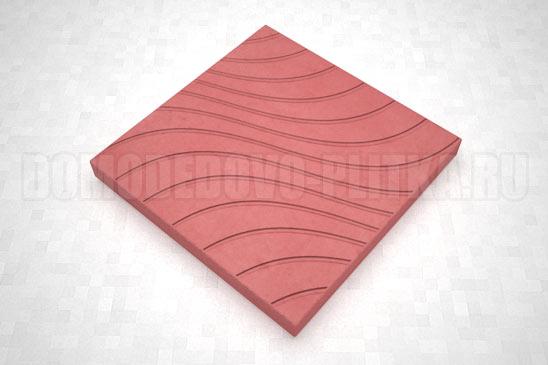 плитка волны цвет красный